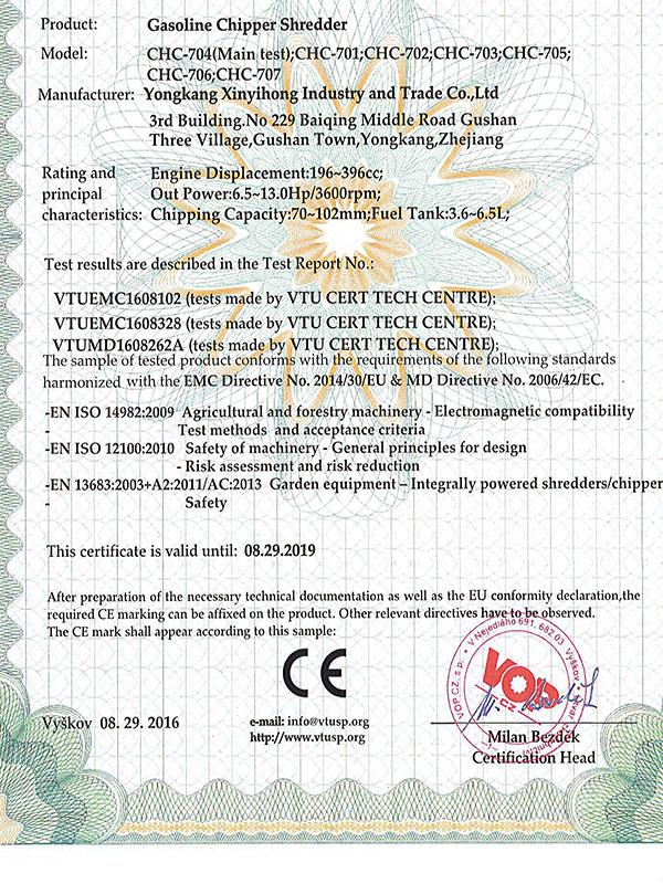 eec certificates