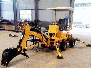 Diesel Engine Towable Backhoe