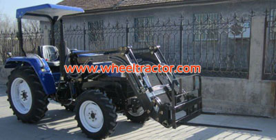 Tractor Front End Loader with Bale Fork