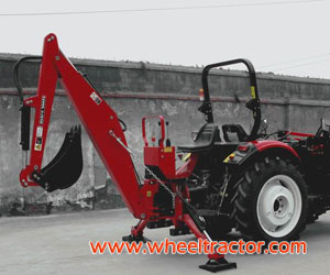 Tractor with Backhoe Loader