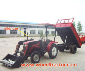 Tractor with Loader and Tralier
