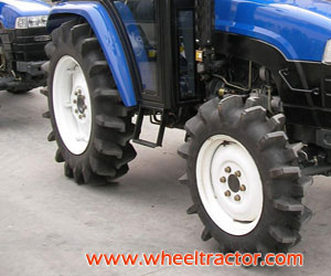 Tractor with Paddy Field Tire